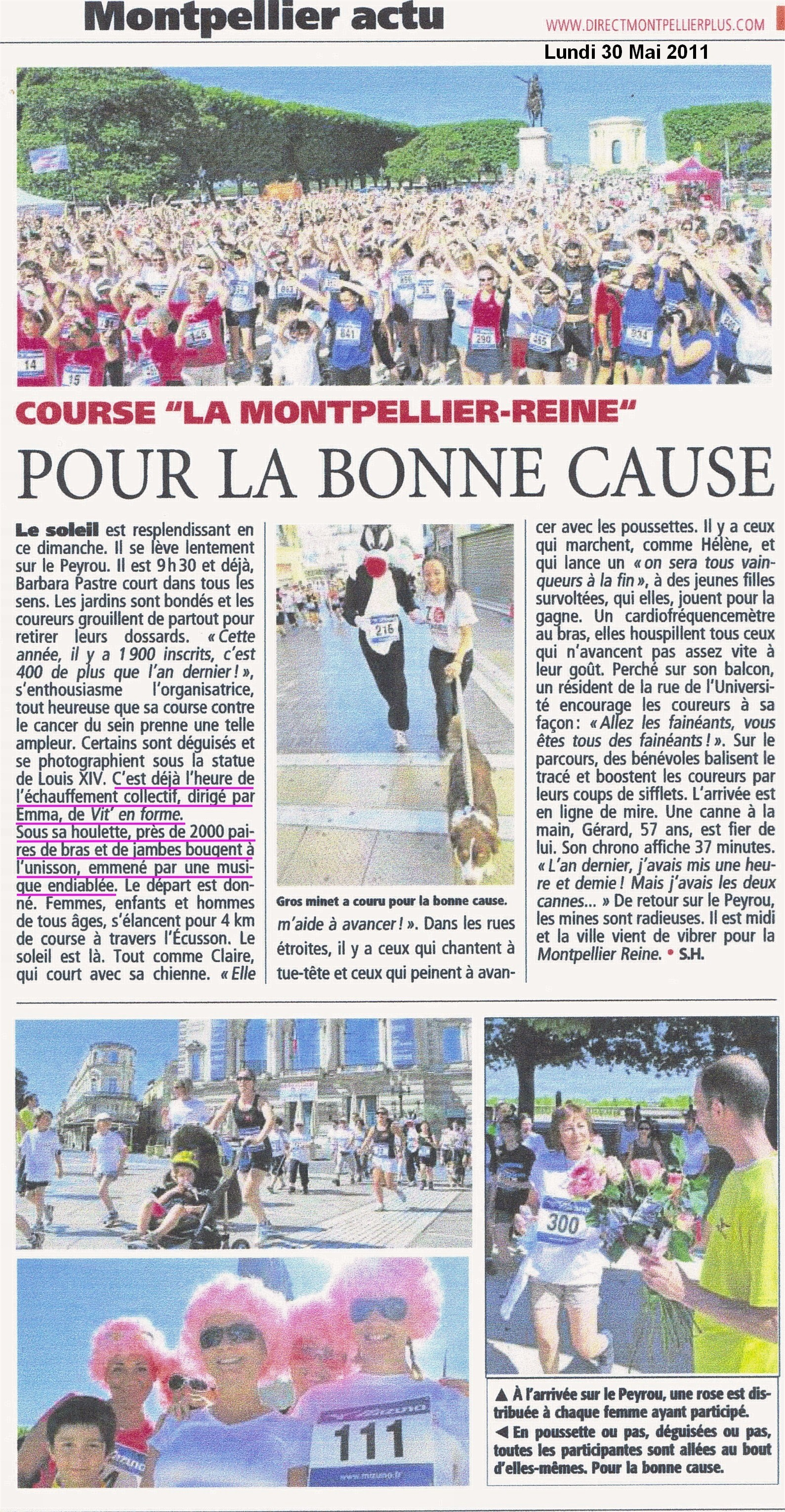 Article Montpellier Plus 30 Mai - VIT EN FORME